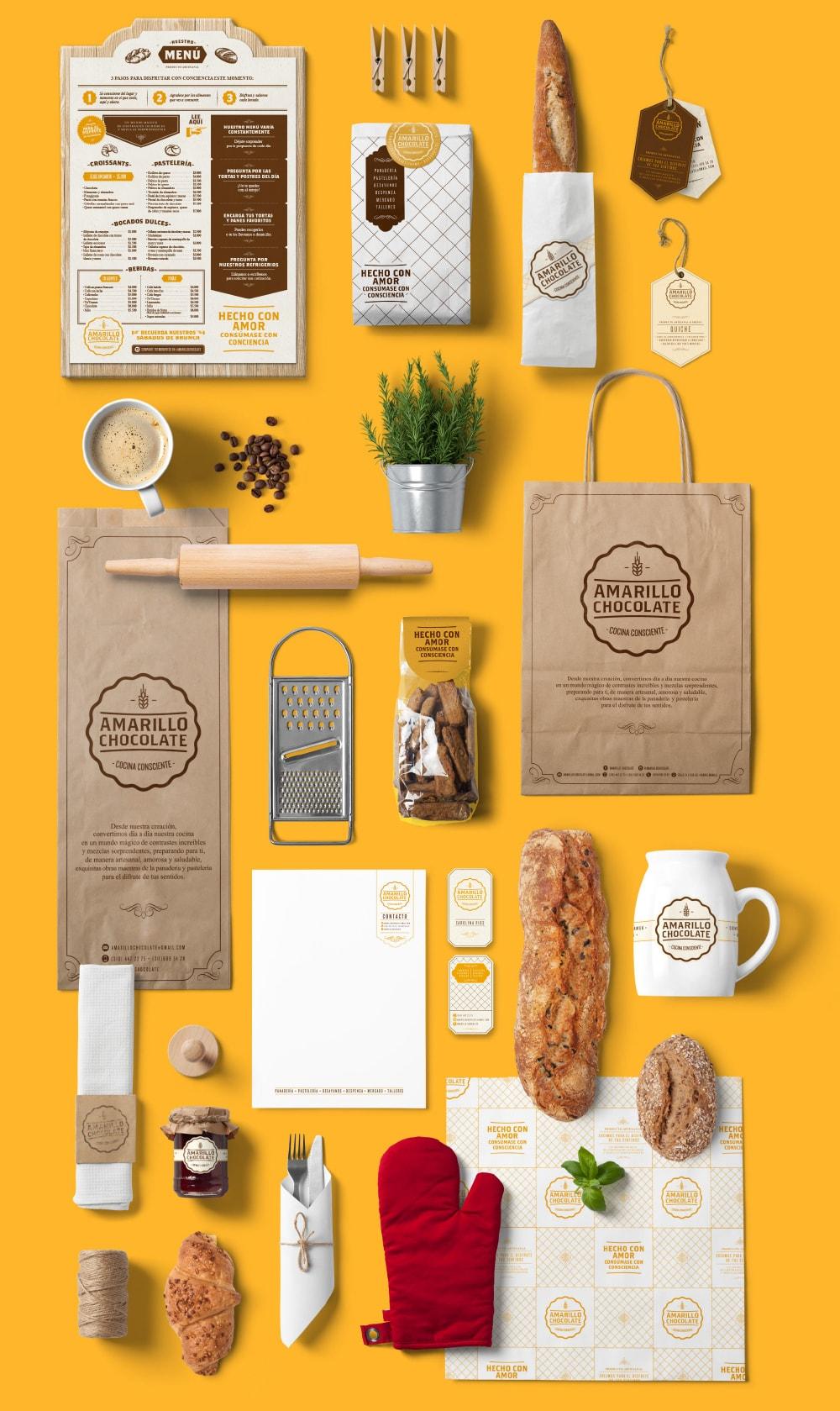 Diseño de branding para Amarillo Chocolate