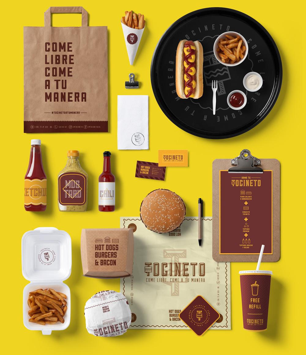 Diseño de branding para Tocineto