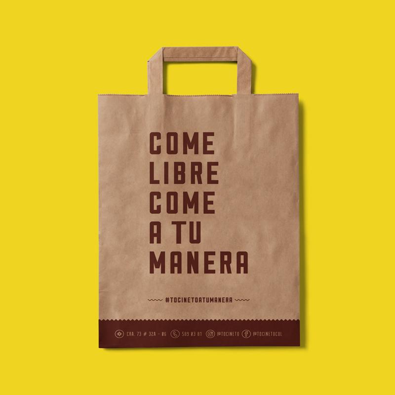 Diseño de bolsa para Tocineto